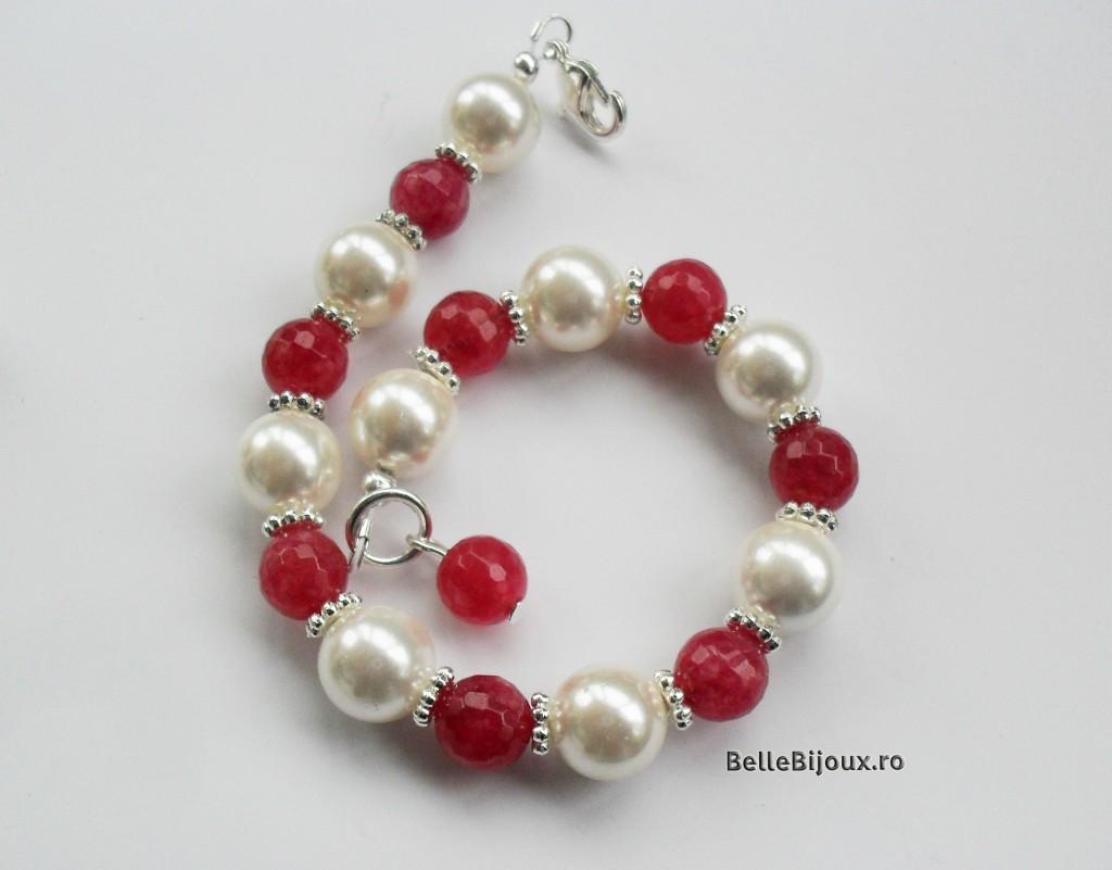 Set perle si agate fatetate