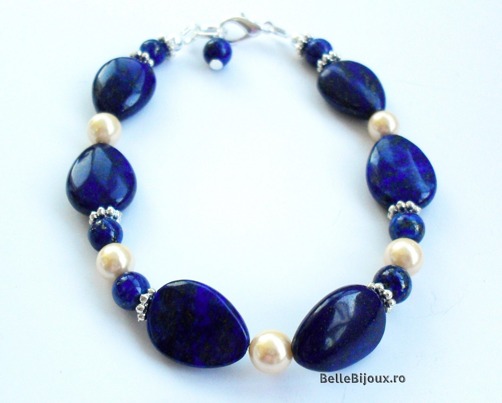 Lapis Lazuli si perle