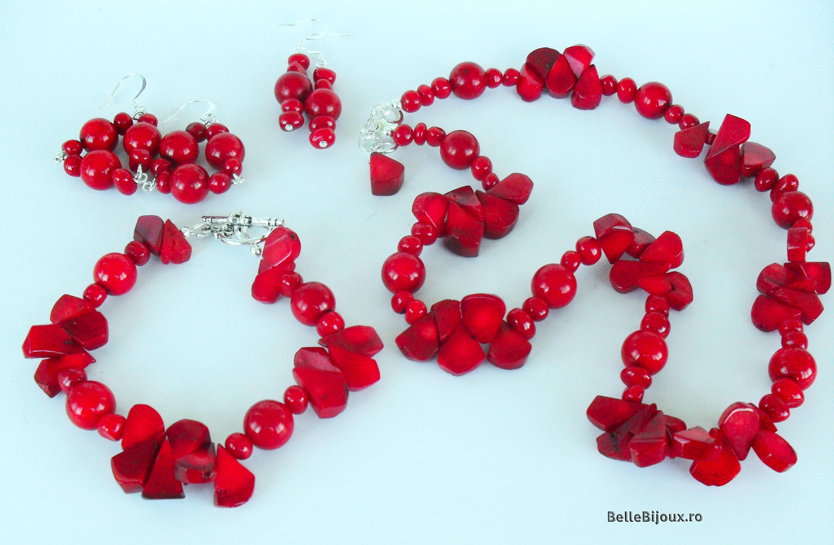 Set coral rosu